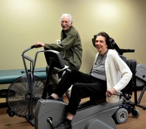 Grace Ridge Retirement Community residents stay heart healthy in a brand new fitness room! February 2015