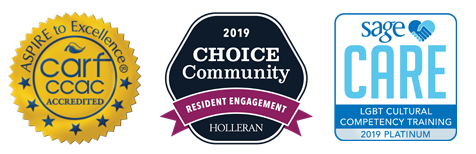 CARF Accredited / Holleran Resident Engagement Award, 2019