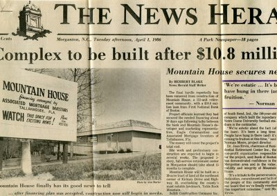 Mountain House to be built after 10.8 mil loan.