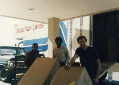Moving in to Grace Ridge - 1987.